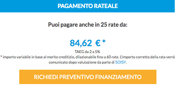 Tende da sole Pagamento Rateale CheckOut Soisy