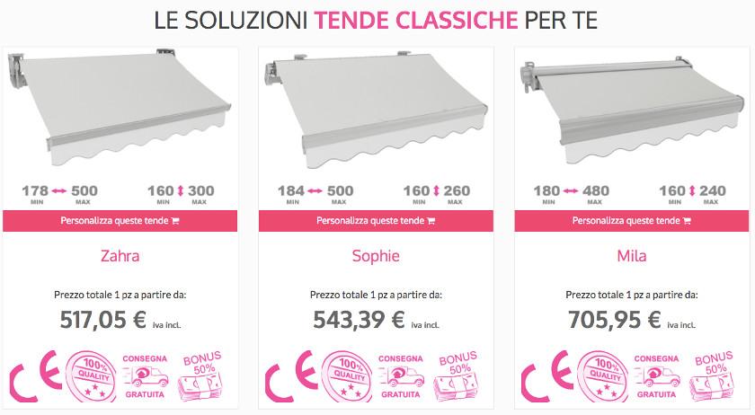 Prezzi Per Tende Da Esterno.Calcola Online Costo Tende Da Sole Tende Online